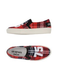Les Art Ists X Swear Footwear Low Tops And Trainers Women Red