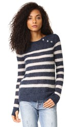 Pam And Gela Striped Sweater Navy
