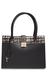 Salvatore Ferragamo 'Marlene' Leather And Genuine Calf Hair Shopper