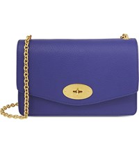 Mulberry Postman's Lock Small Leather Clutch Indigo