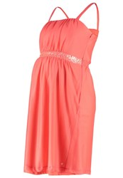 Esprit Maternity Cocktail Dress Party Dress Coral Orange