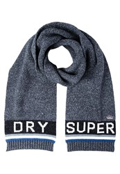 Superdry Scarf Charcoal Marine Dark Grey