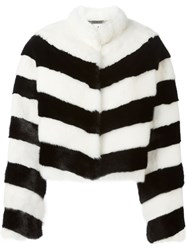 Philipp Plein Mink Fur Jacket White