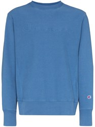 Champion Logo Embroidered Jumper Blue