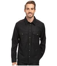 Fjall Raven Ovik Wool Shirt Dark Grey Men's Long Sleeve Button Up Gray