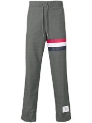 Thom Browne Sweatpants With Seamed In Red Grey