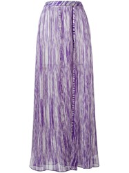 Missoni Ribbed Detail Flared Skirt Pink Purple