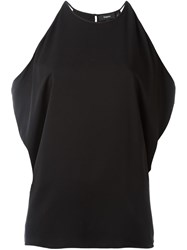 Theory Cold Shoulder Top Black