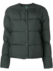 Save The Duck Round Neck Puffer Jacket Green