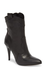 Charles David Kimberly Western Bootie Black Leather