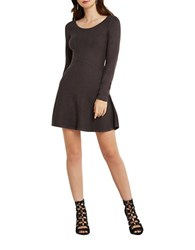 Bcbgeneration A Line Sweater Dress Charcoal