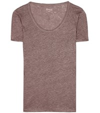 81 Hours Perry Linen T Shirt Brown