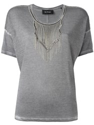 The Kooples Embellished T Shirt Grey