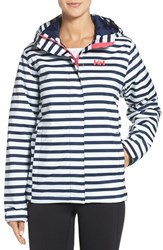 Helly Hansen Women's 'Nine K' Waterproof Hooded Jacket Evening Blue Stripe