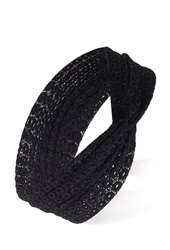 Forever 21 Circle Patterned Lace Headwrap Black
