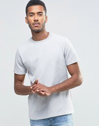 Another Influence Stripe Panel T Shirt Grey
