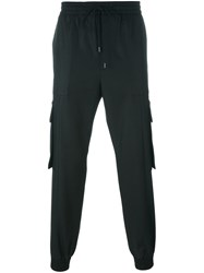 Juun.J Cargo Pocket Sweatpants Black