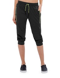 Mpg Java Jogger Utility Capri Pants Black