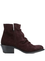 Fiorentini Baker Crinkled Ankle Boots Brown