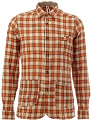 Dnl Checked Longsleeved Shirt Yellow And Orange