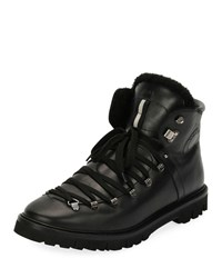 Bally Chack Fur Lined Hiking Boots Black
