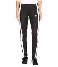 Adidas 3 Stripes Tights Black White Women's Workout