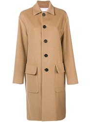 Dsquared2 Classic Buttoned Coat Brown