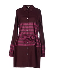 Galliano Short Dresses Maroon