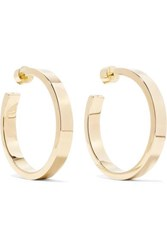 Jennifer Fisher Baby Kate 1.5 Gold Plated Hoop Earrings One Size