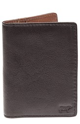 Men's Will Leather Goods 'Clyde' Front Pocket Wallet Black