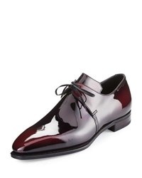Corthay Arca Patent Leather Derby Shoe Raspberry