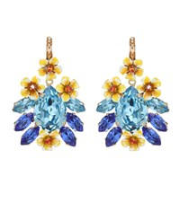Dolce And Gabbana Crystal Embellished Earrings Multicoloured