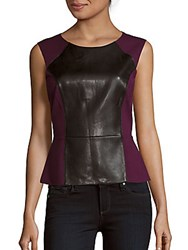Bcbgmaxazria Karissa Knit Sleeveless Top Deep Port