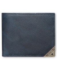 Guess Maurice Double Billfold Wallet Navy