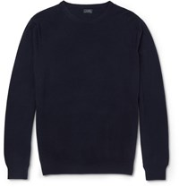 J.Crew Slim Fit Cashmere Sweater Blue