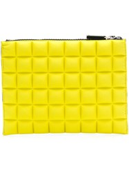 No Ka' Oi Chocolate Bar Quilted Purse Yellow And Orange