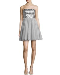 Aidan By Aidan Mattox Beaded Bodice Party Dress Women's