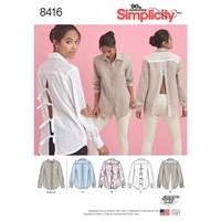 Simplicity Vented Shirt Sewing Pattern 8416