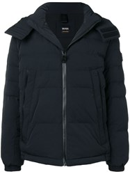 Hugo Boss Padded Hooded Jacket Black