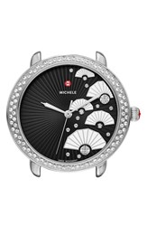 Michele Women's 'Serein 16 Diamond' Diamond Fan Dial Watch Case 36Mm X 34Mm