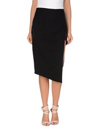 Alessandra Marchi Knee Length Skirts Black