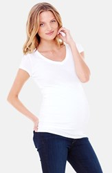 Women's Ingrid And Isabel V Neck Short Sleeve Maternity Tee Bright White