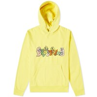 Brain Dead Embroidered Graffiti Hoody Yellow