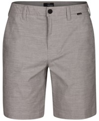 Hurley Men's Breathe Heathered Dri Fit 9.5 Shorts Wolf Grey