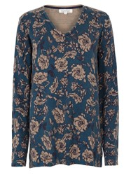 Tulchan Ornamental Rose Tunic Jumper Blue