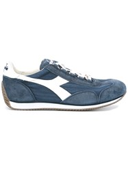 Diadora Panelled Lace Up Trainers Blue