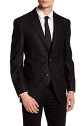 David Donahue Two Button Wool Sport Coat Black