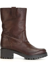P.A.R.O.S.H. Mid Calf Length Boots Brown
