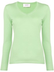 Snobby Sheep V Neck Jumper Green