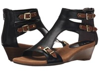 Aerosoles Yet Another Black Tan Combo Women's Wedge Shoes